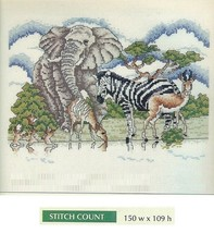 THE WATERING HOLE -  CROSS  STITCH PATTERN ONLY   HM - SUU - $4.41