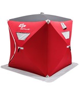 3-person Portable Pop-up Ice Shelter Fishing Tent with Bag - $205.36