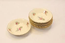 "Homer Laughlin Priscilla Scalloped Fruit Berry Bowls 5"" Set of 8 - $39.19"