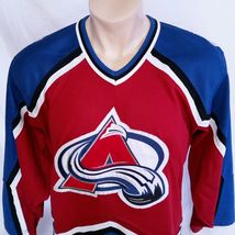 Colorado Avalanche CCM Hockey Jersey NHL Throwback VTG Authentic Mens Size Large image 5