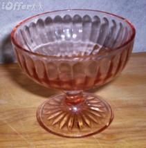 DEPRESSION GLASS- HAZEL ATLAS PINK RIBBON SHERBET GLASS - $10.95