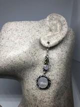 Vintage Genuine Peridot Rose Quartz MOP 925 Sterling Silver Lever Back Earrings - $68.04