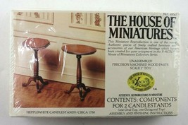 Vintage House Of Miniatures Hepplewhite Candlestands #40047 New Sealed - $10.95