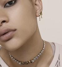 Authentic Christian Dior 2019 J'ADIOR CD Logo Multi Charm Dangle Earrings Gold image 8