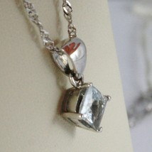 Necklace White Gold 750 - 18K Aquamarine Princess CT 1.00, Chain Singapore image 1