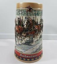 Anheuser Busch Budweiser Stein Beer Mug Bud Clydesdale 1988 Vintage Vtg  - $59.39