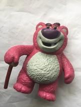 Disney Toy Story Lots o Huggin Bear Walking Cane 3.25 Inch Tall PVC Figure - $14.92