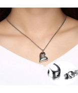 Forever In My Heart Shape Open Teardrop Cremation Urn Pendant Necklace K... - $12.76