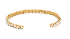 Michael Kors Women's Metallic Astor Two-Tone Studded Cuff Bracelet/Goldtone - $575,71 MXN