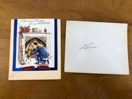 Christmas Card For Husband WWII Soldier KIA 1943 Sweetheart Note Vtg Fir... - $89.09