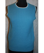 Neuf avec Étiquettes Bobby Jones TAILLE M Turquoise Pull Gilet Tricot To... - $35.10