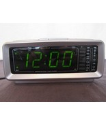 Vtg Lenoxx Sound CR-776 AM/FM Alarm Clock Radio Soothing Green Numbers - $24.87