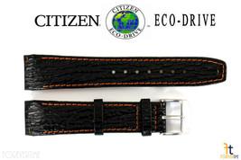 Citizen Eco-Drive E812M-S033870 21mm Schwarzes Leder Uhrenarmband E820M-S061806 - $62.38