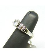 Women's Sterling Silver Round CZ Engagement Fashion Ring Size 6.5 - $34.55