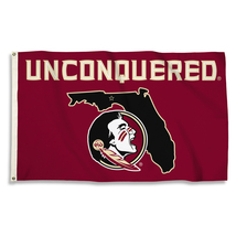 """Florida State Seminoles """"Unconquered"""" 3'x5' Flag with Grommets  - $35.95"""