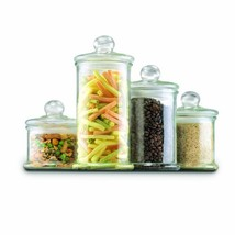 Anchor Hocking Glass Apothecary Jar Canister Set with Ball Lid, 4-Piece Set - $40.70