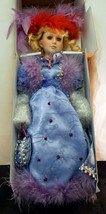 Heritage Signature Collection Porcelain Doll AUDREY #12374 Purple / Red ... - $39.99