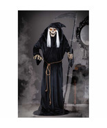 Halloween Lifesize Animated LUNGING REAPER ASSASSIN PROP Haunted House NEW - $177.29