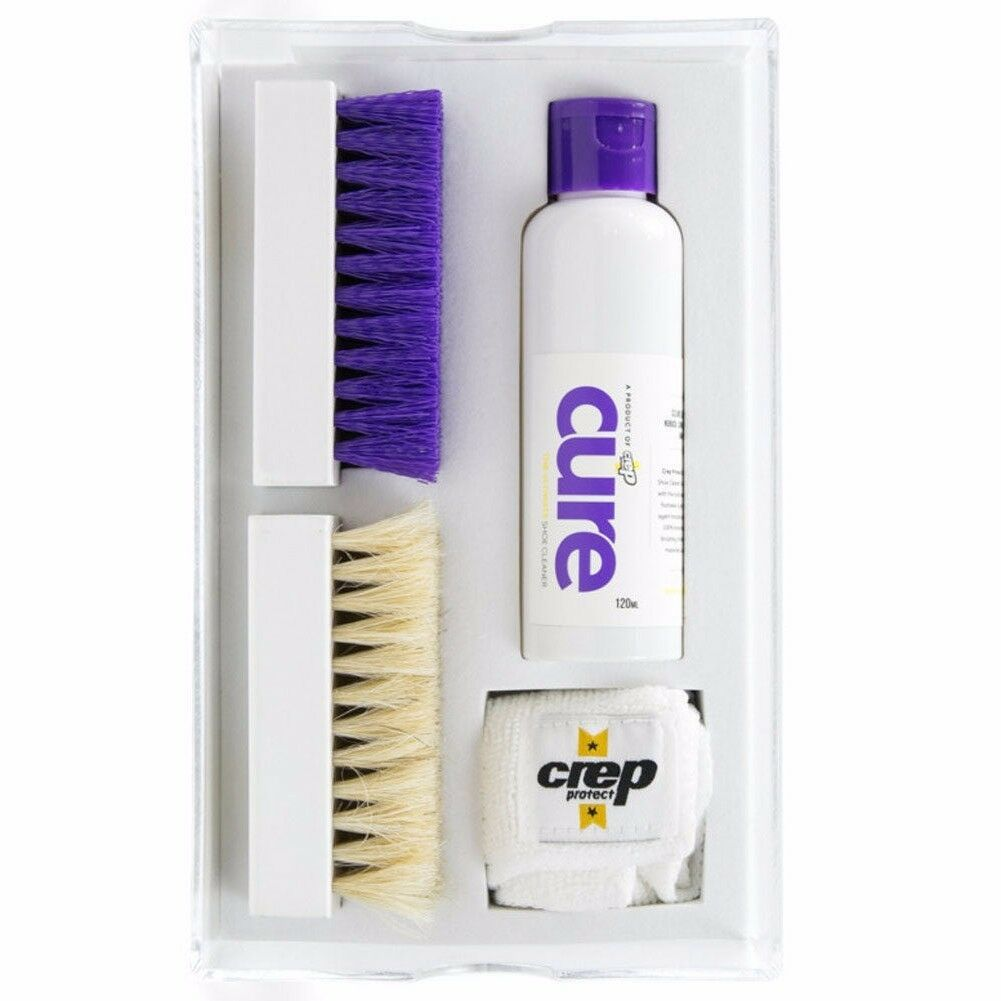 Crep Protect Cure Premium 120ml Shoe Cleaner Kit in Acrylic shoe Box Fast Ship