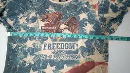Harley Davidson Of Rehoboth Beach Delaware XL US Flag Womens embellished Blouse  image 4