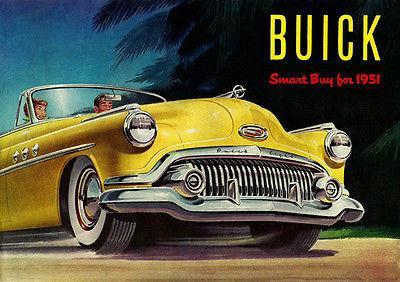 Primary image for 1951 Buick - Promotional Advertising Poster