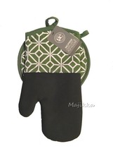 Gourment Club Sage Green Neoprene Oven Mitt & Pot Holder Set  - $18.69