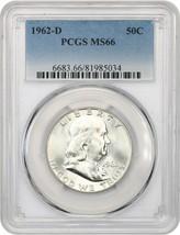 1962-D 50c PCGS MS66 - Franklin Half Dollar - $630.50