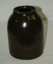 Old Antique Primitive Salt Glazed Stoneware Canning Crock Jug Jar Farm H... - $39.59