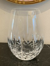 "Waterford Lismore Essence Stemless Red Wine Glass 5 3/8"" High - $65.00"