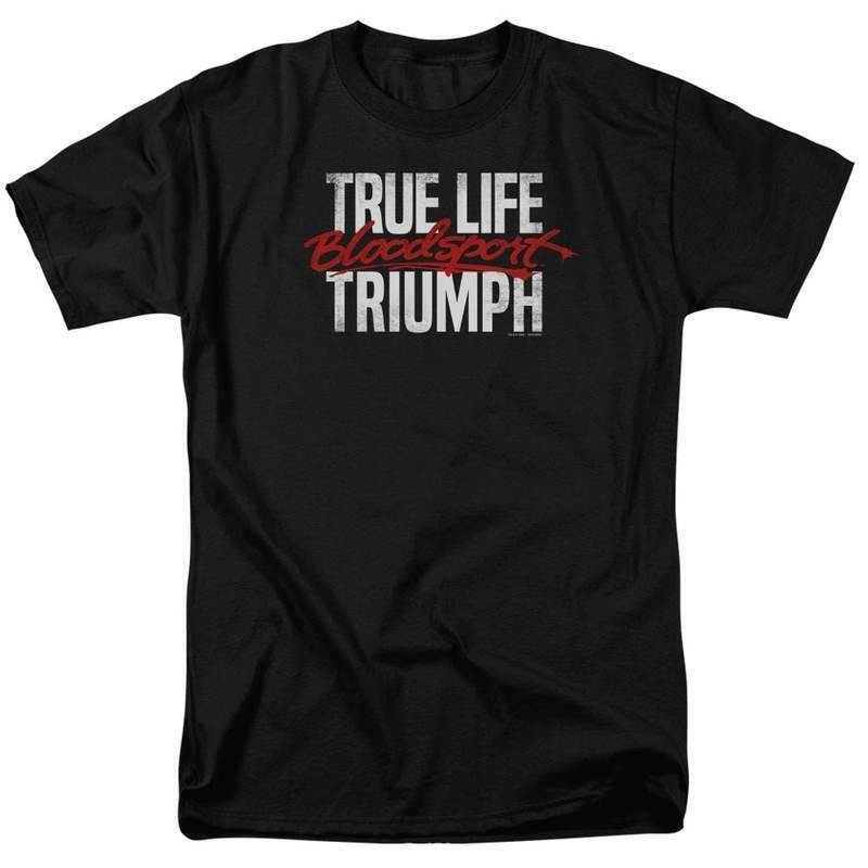 Bloodsport T-shirt True Life Triumph Retro 80's movie graphic tee MGM292