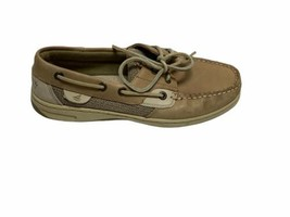 Sperry Top Sider Womens Bluefish 2 Eye Boat Shoes Size 6.5 Oat Linen 927... - $29.69