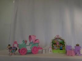Little People Royal Garden Wedding Castle Gazebo + Royal Coach Carriage + Horse - $31.69