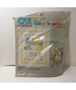 """Baby Love Crib Cover Crewel Embroidery Kit Columbia Minerva Quilt 36"""" x 45"""" - $48.37"""
