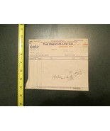 Prest O lite Company Minnesota MN 1912 Invoice Letterhead 1266 - $10.99