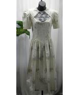 Vintage 1970s Gunne Sag Floral 100% Cotton Short Sleeve Prairie Dress Si... - $75.99