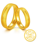 ZZZ New 24k Pure Gold Pairs Of Rings Couples Bridal Sets - $1,499.99
