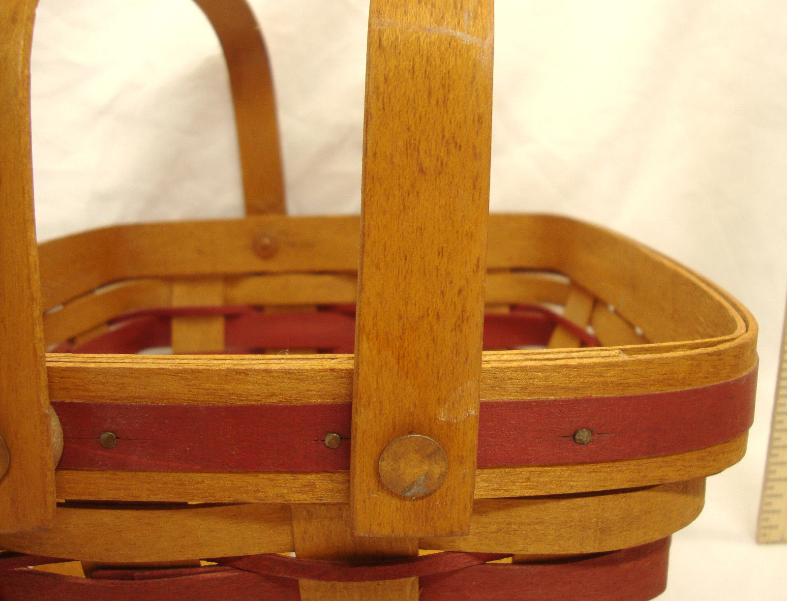 1993 Longaberger Bayberry Basket Christmas Collection w/ Liner and Protector