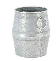 Decmode Farmhouse Large Galvanized Metal Barrel Planters - Set of 2 - €56,37 EUR