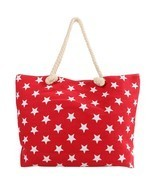 Women's Star Print Knot-out Rope Shoulder Tote Bag - $17.99
