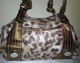 Kathy Van Zeeland Animal Print Satchel Handbag - $49.99