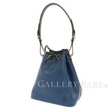 LOUIS VUITTON Petit Noe Epi Blue Noir Shoulder Bag M44152 France Authentic