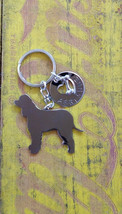 New Irish Water Spaniel Custom Keychain.  Warer Spaniel Personalized Jewelry. - $18.00