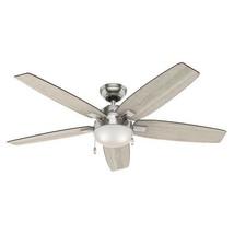 (MOTOR ONLY) 54 in Hunter Antero Ceiling Fan, Brushed Nickel,  - $24.74