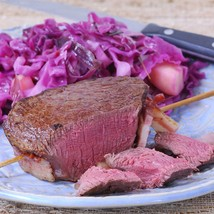 Bison Tenderloin, 5-7 lbs, Cut to Order - 24 lbs, 2-inch steaks - $1,235.32