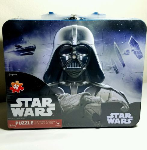 New Star Wars Darth Vader 48 Puzzle Tin Lunch Box - May the force be with you!