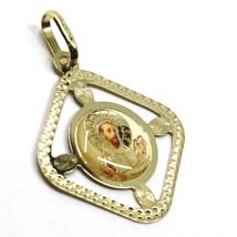Pendentif Médaille, or Jaune 750 18K, San Francesco Assise, Losange, Émail image 2