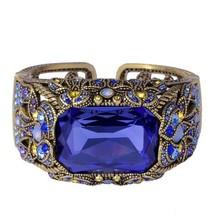 "HEIDI DAUS "" Irresistible Impressions"" Crystal Art Deco Cuff Bracelet S/... - $2.332,71 MXN"