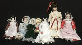 Porcelain Doll Collection Ornaments Lot of 7 - $16.99