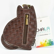 Chala Handbags Faux Leather Whimsical LaZzy Cat Coin Purse Key Chain Keychain image 2
