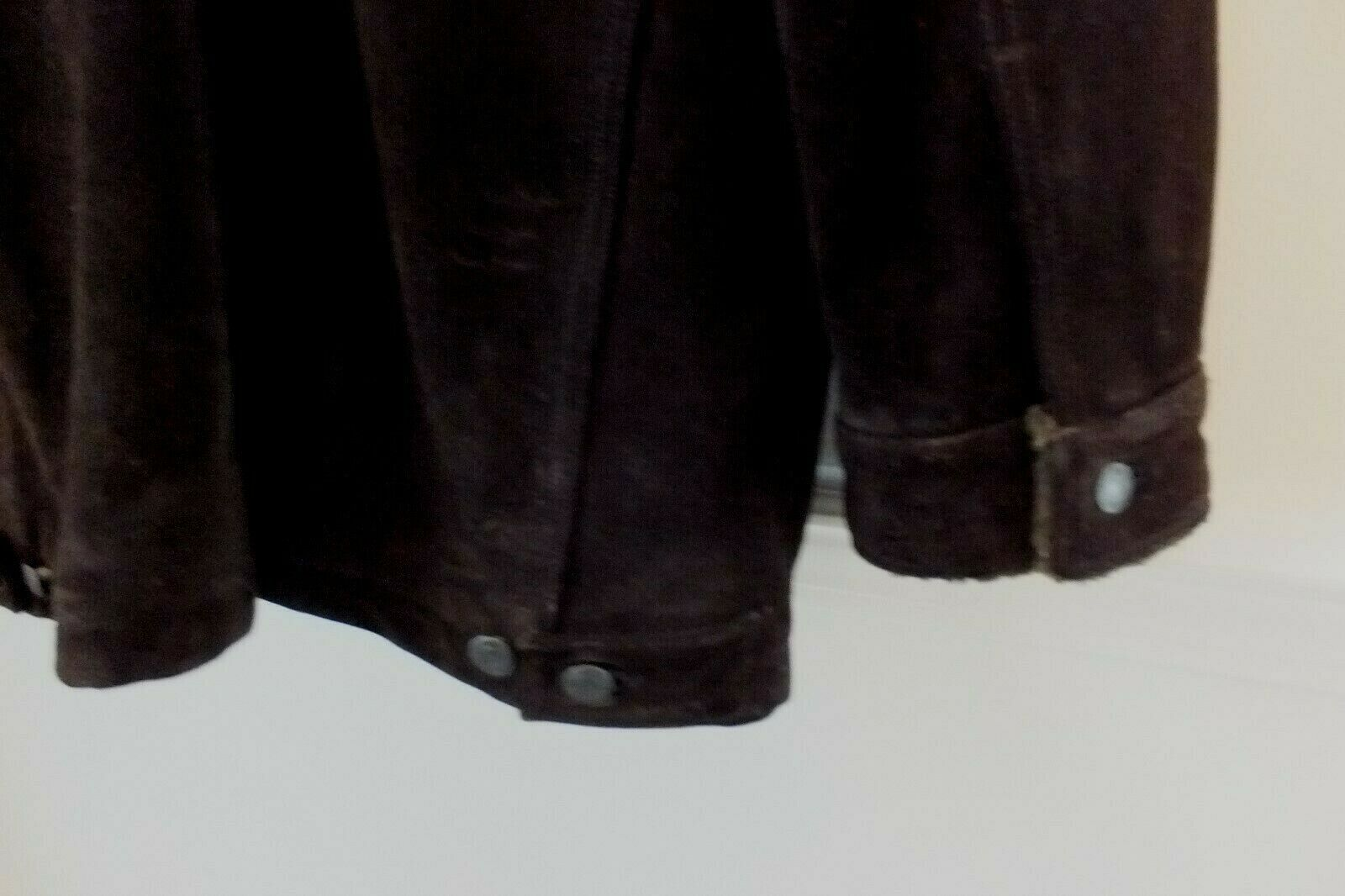 GAP Mens Suede Leather Coat Jacket Thick & Heavy Sherpa Lined Size XXL Dk Brown image 6